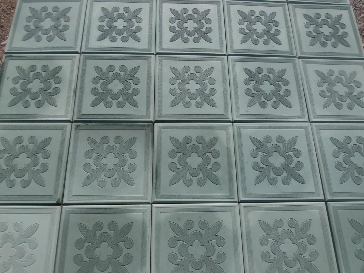 Тротуарная плитка Краковский квадрат (300*300*30мм), серая