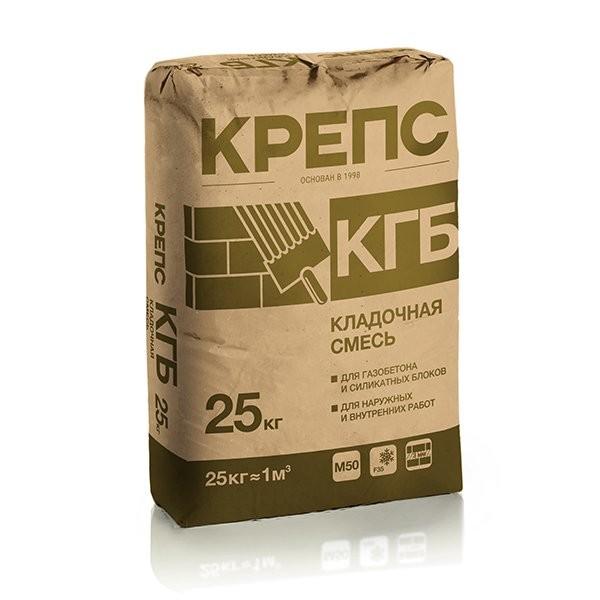 Крепс Кладочная смесь КГБ д/газобетона, 25кг